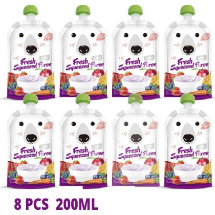 Baby Reusable Puree Squeezed Pouch (1 pouch)