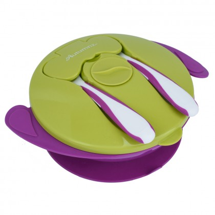 Autumnz Baby Suction Bowl with Spoon and Fork